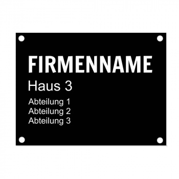 Türschild Aluminium 15x20 cm Firma