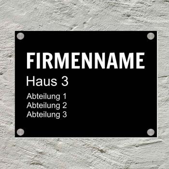 Türschild Aluminium 15x20 cm inkl. Befestigungsmaterial Firma
