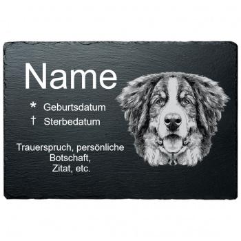 Haustier Grabplatte Berner Sennenhund