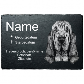 Haustier Grabplatte Bluthund 20x30 cm