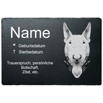 Haustier Grabplatte Bullterrier