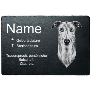 Haustier Grabplatte Windhund 20x30 cm