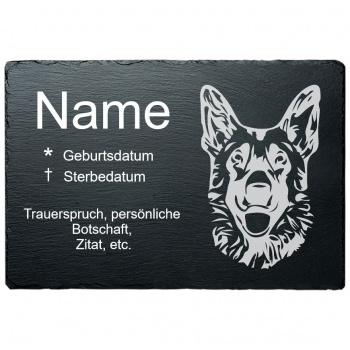 Haustier Grabplatte Schäferhund 20x30 cm