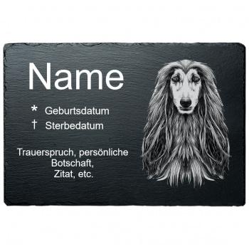 Haustier Grabplatte Afgahnischer Windhund 20x30 cm