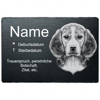 Haustier Grabplatte Beagle 20x30 cm