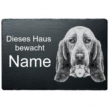 Schieferplatte - Dieses Haus bewacht - Bluthund