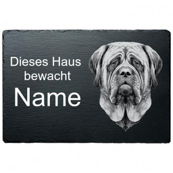 Schieferplatte - Dieses Haus bewacht - Mastiff