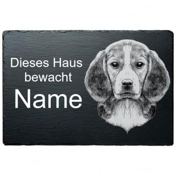 Schieferplatte - Dieses Haus bewacht - Beagle