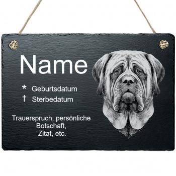 Haustier Grabplatte mit Kordel Mastiff