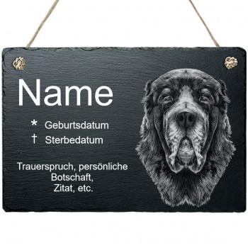 Haustier Grabplatte mit Kordel Owtscharka