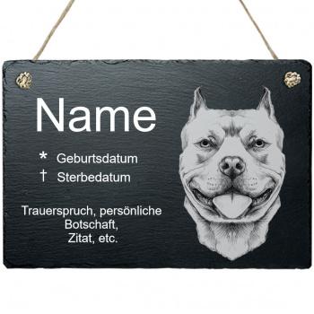 Haustier Grabplatte mit Kordel Pit Bull