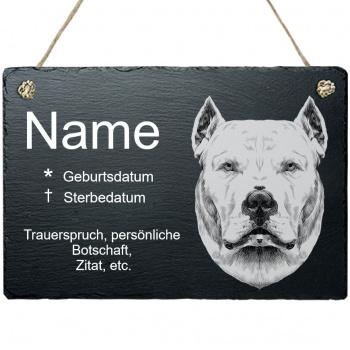 Haustier Grabplatte mit Kordel Argentinische Dogge