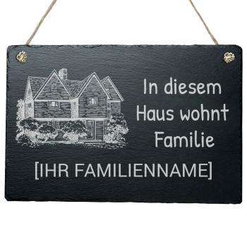HaustürschildIn diesem Haus wohnt Familie 20x30 cm