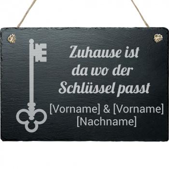 Haustürschild Schlüssel 20x30 cm