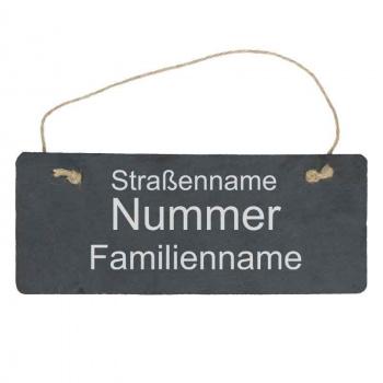 Haustürschild mit Familiennamen 10x25 cm
