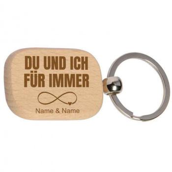 Holz-Schlüsselanhänger 3x4,5 cm für immer