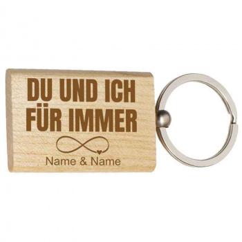 Holz-Schlüsselanhänger 3,7x5 cm für immer