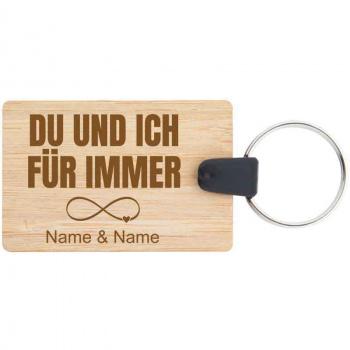 Holz-Schlüsselanhänger 3,5x5,3 cm für immer
