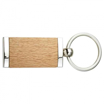 Holz und Metall Schlüsselanhänger 2,4x4,8 cm zum selbst gestalten